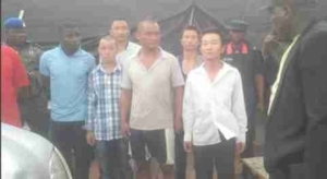 Illegal Chinese Miners Arrested, MinisterOf Mines Fumes At Security Operatives (Pic)